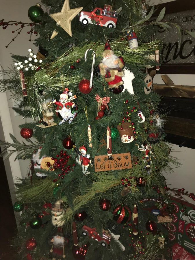 The Christmas tree in my house