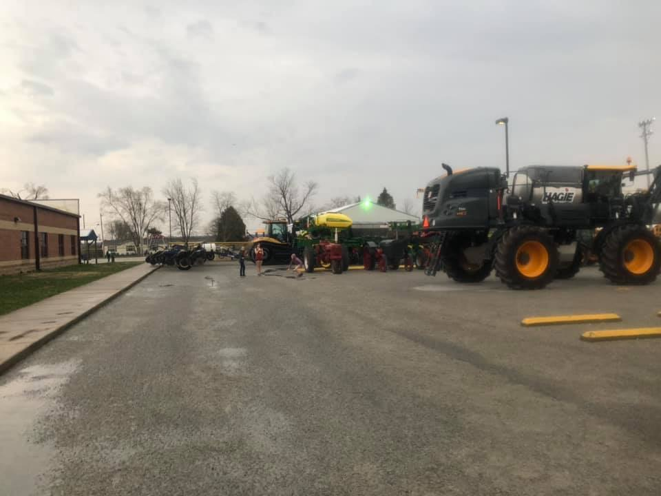 Some of the tractors that people brought in for the event.