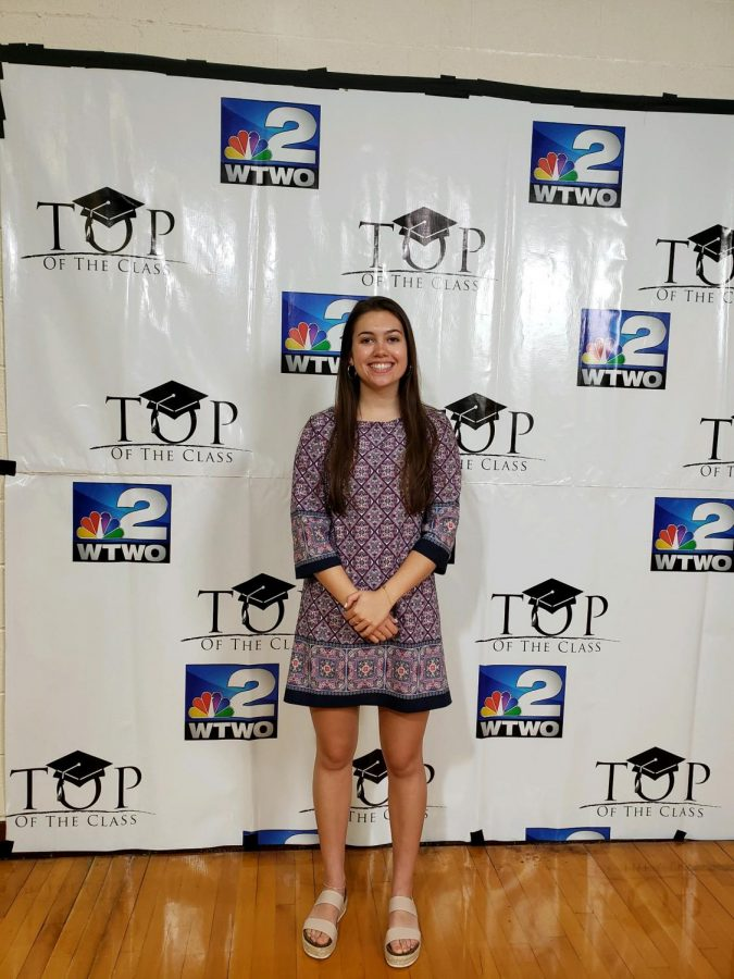 Macy Biggs at Top of the Class Luncheon on May 1, 2019