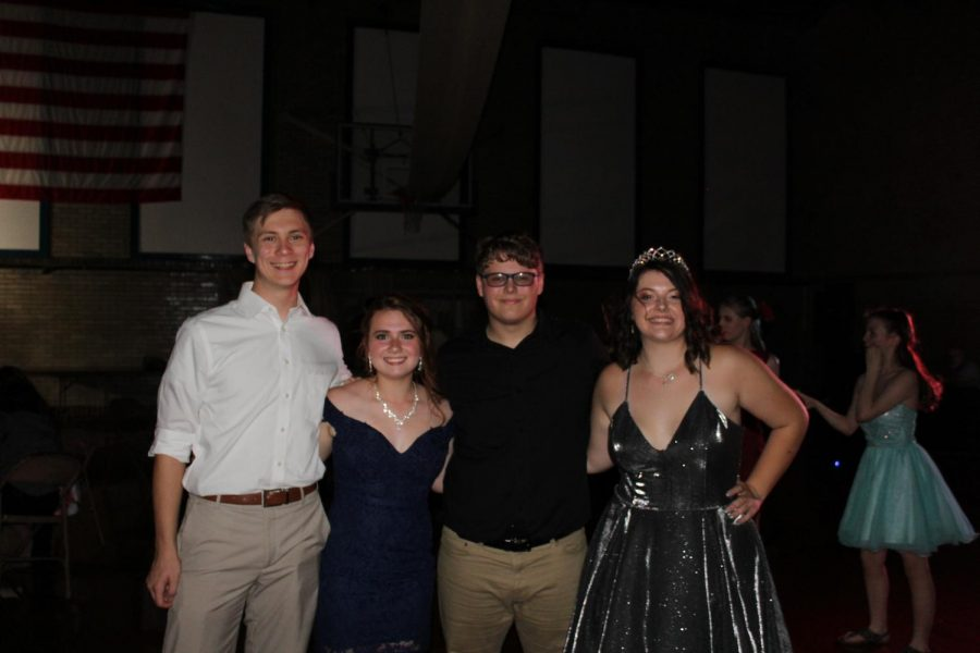 Nick Booth, Abbey McCord, Nathan White and Layni Branson at the homecoming dance.