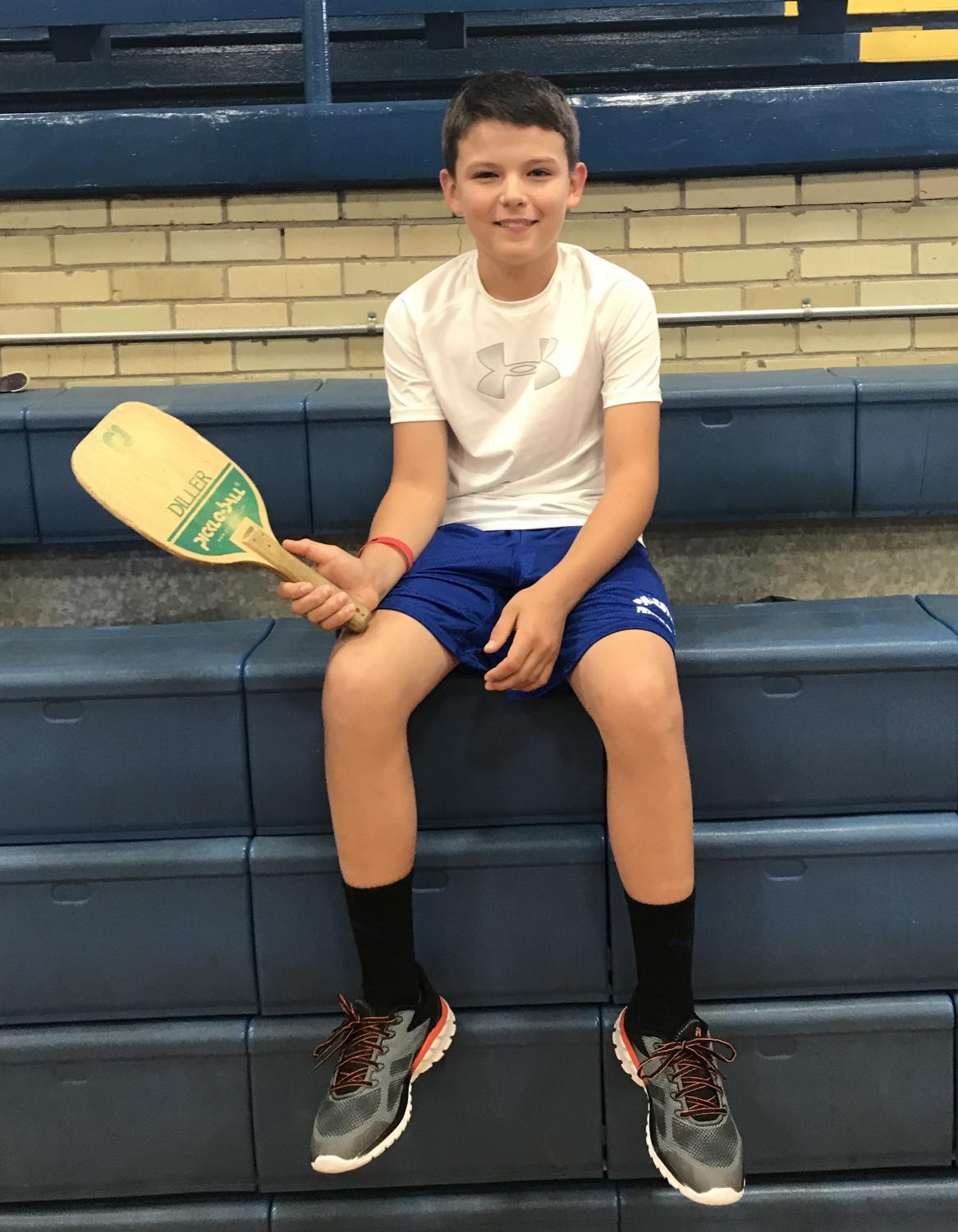 Cody York ready for pickleball.