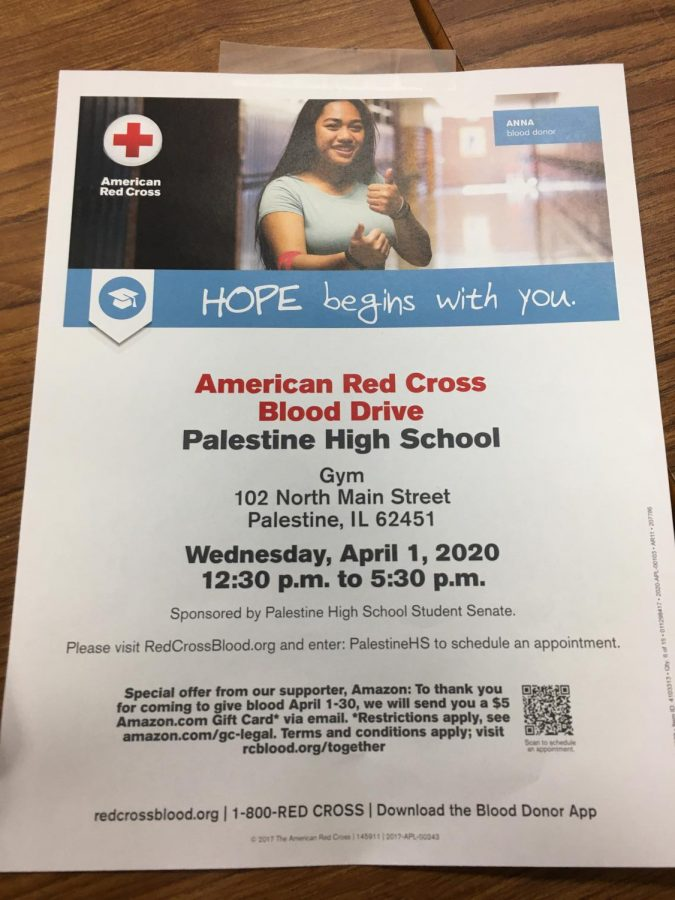 April 1st Blood Drive At PHS