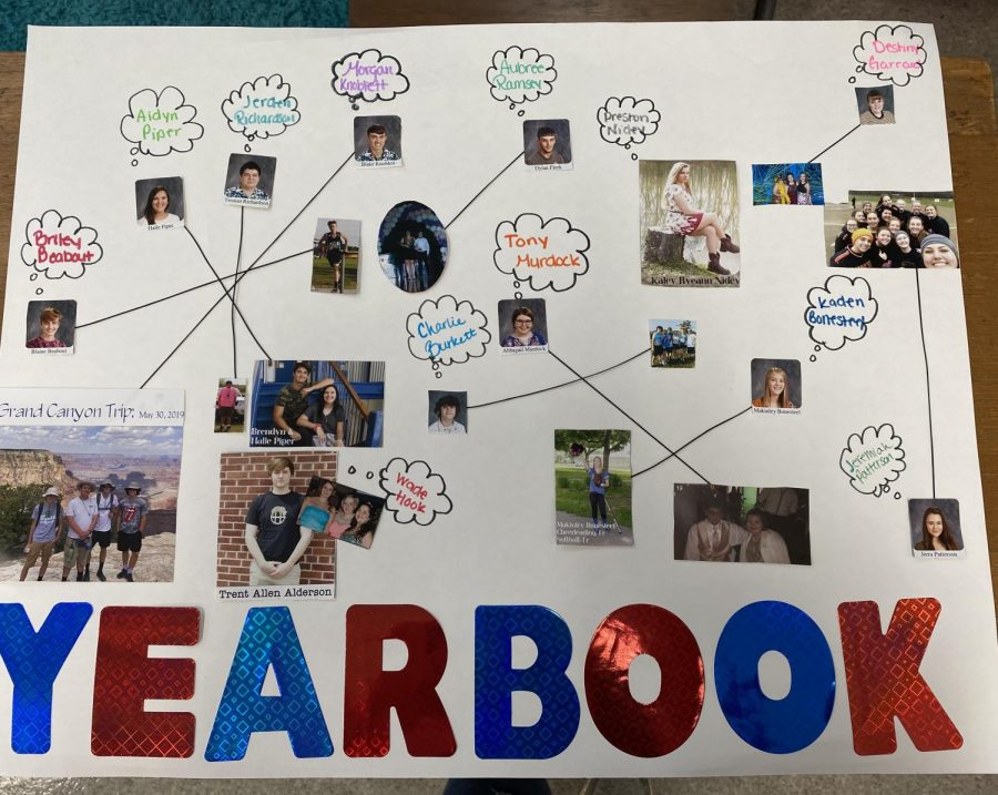Nathan White and Layni Branson created a poster for Yearbook staff to interest incoming freshmen in Yearbook staff.