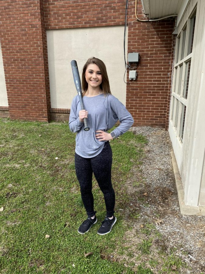 Freshman Shara Coffman plays catcher for the 2020 Lady Tigers softball team.  The first game is March 16 at Cumberlad.