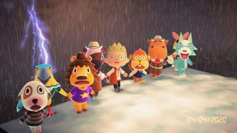 My Animal Crossing villagers and I pretending to be struck by lightning