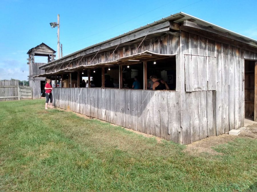 One of several rodeo concession stands, ready for business.