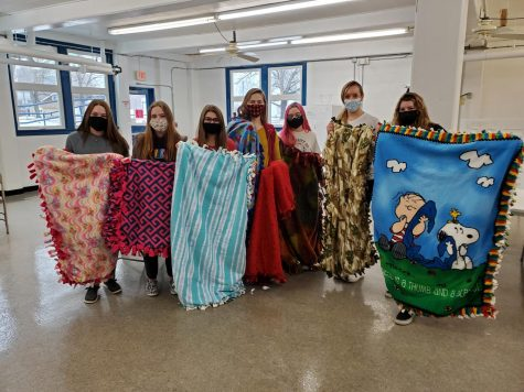 Last years Pay It Forward group made blankets for Project Linus.  These blankets get donated for children who are sick and in the hospital.