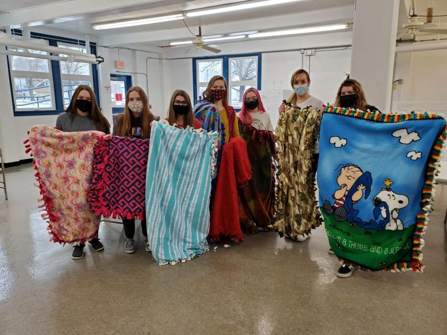 Last+years+Pay+It+Forward+group+made+blankets+for+Project+Linus.++These+blankets+get+donated+for+children+who+are+sick+and+in+the+hospital.